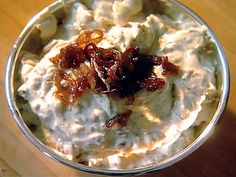Ina Garten's Pan Fried Onion dip. By far the best dip I've ever made.  great on steak, burgers, with veggies or chips.