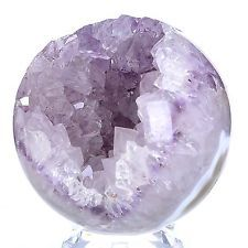 "3.66""Natural Geode Amethyst Agate Sphere Ball Decor Crystal Healing Reiki #11G16"