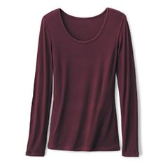 Ribbed Scoop Neck Flattering scoop neckline, looks great worn alone or under a jacket Fitted Bordeaux, Black or Dune