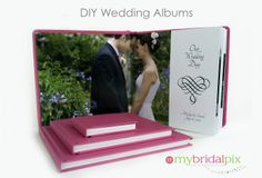 Make Your Own Wedding Album! www.mybridalpix.com Simple to use drag and drop software lets you create the #wedding #album of your dreams for about 1/2 the cost of what you would typically pay!  Choose from 3 Styles of books - Flush Mount, Pure Photo Mount Lay Flat or Classic Photo Book. Made in the USA!