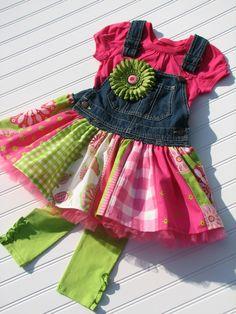 GYPSY overall jumper dress Custom ODOD size 2T thru 8. $70.00, via Etsy.