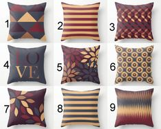 Throw Pillow Covers, Accent Pillow Covers, Fall Pillow Covers, Autumn Home Decor, Decorative Pillows - - Fall Pillows, Blue Throw Pillows, Scatter Cushions, Sofa Pillows, Throw Pillow Covers, Accent Pillows, Cushion Covers, Living Room Orange, Pillow Cover Design