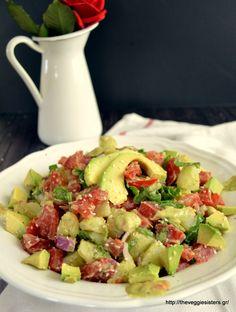 Πατατοσαλάτα με αβοκάντο Some Recipe, Summer Salads, Pasta Salad, Potato Salad, Avocado, Vegan Recipes, Appetizers, Vegetarian, Vegetables