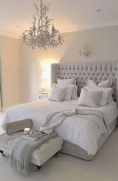 Serene bedroom - 15 Modern Bedroom Design Trends and Ideas in 2019 Page 7 of 54 Modern Bedroom Design, Master Bedroom Design, Contemporary Bedroom, Master Suite, Bedroom Designs, Master Bedrooms, Modern Bedrooms, Contemporary Headboards, French Bedrooms