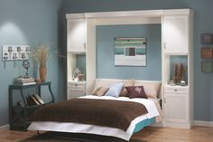 White Murphy Bed
