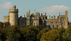 Arundel Castle: The south front, Henry II's hall range to the right