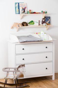 Wickelaufsatz 50 cm Breite mit zusätzlichen Fächern für Babyprodukte auf Ikea Hemnes Kommode