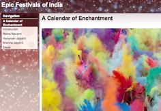 "Epic Festivals of India URL https://sites.google.com/site/epicfestivalsofindia/ This Storybook is a ""calendar of enchantment"" which brings to life the stories and rituals of the festivals of Rama Navami, Hanuman Jayanti, Krishna Jayanti, and Diwali, the festival of lights."