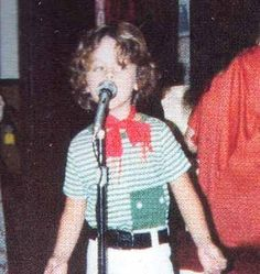 5 year old Billie Joe Armstrong from Green Day