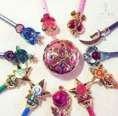 Item of Sailor Moon Sailor Moon Weapons, Sailor Moon Wands, Sailor Moon Art, My Little Pony, Sailor Moon Collectibles, Lisa Frank Stickers, Sailor Moon Cosplay, Nana Gifts, Magical Jewelry