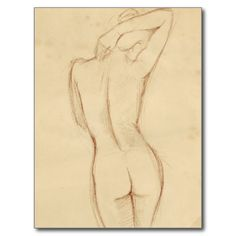 Figure Drawing Female Standing Nude Female Drawing Postcard - Shop Standing Nude Female Drawing Postcard created by bestartcollection. Personalize it with photos Pencil Sketch Drawing, Life Drawing, Pencil Drawings, Painting & Drawing, Art Drawings, Figure Drawing Female, Figure Drawing Models, Figure Sketching, Learn To Sketch