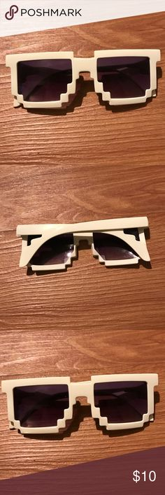 8 Bit White Sunglasses NEW 8 Bit White Sunglasses! Accessories Sunglasses