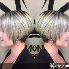 Blunt Metallic Bob Haircut – Balayage Short Hairstyle for Women Who knew metallic shades could look so good? With your gorgeous bob, why not add metallic silver highlights for a bold look? Adding shorter layers to the back of the head will create this amazing round shape. Add a sweeping fringe to frame the face. …