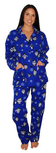 PJ Salvage Penguin Blue Pajama Set Pajamas All Day 4dc282018