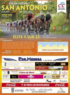 13/06  XXXI Gran Premio San Antonio. Valle de Mena 16:30h Villasana de Mena Prueba Internacional Elite y Sub-23