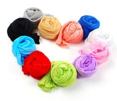 Sweet Style Candy Color Pleated Scarf (YELLOW) China Wholesale - Sammydress.com