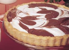 Hershey's Kitchens | Chocolate & Vanilla Swirl Tart