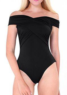 e5964104a7953 One Piece Swimsuit 2017 Sexy Swimwear Women Bathing Suit Swim Vintage Summer  Beach Wear Solid off shoulder Monokini Swimsuit xl