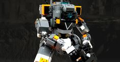 Standby for Titanfall! Lego Titanfall, Single Player, Lego Brick, Color Schemes, Bricks, Sim, Campaign, Scale, R Color Palette