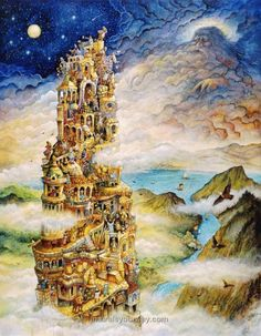 Tower Of Babel Castle board drawing inspiration Castle Mural, Castle Wall, Wild Bull, Kids Wall Murals, Epic Of Gilgamesh, Tower Of Babel, Fantasy Inspiration, Holy Spirit, Wallpaper