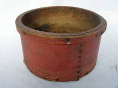 Primitive Antique Grain Measure Signed Dated Original Dry Red Paint 1882 | eBay