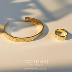 Find the luxurious gold cuff bracelets you've been looking for at Northskull with the Fence Cuff in Gold. Browse through a range of men's bangles online today. Mens Gold Bracelets, Cuff Bracelets, Designer Mens Bracelets, Gents Bracelet, How To Clean Gold, Clean Gold Jewelry, Sterling Silver Earrings Studs, Silver Ring, Bracelet Designs