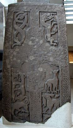The Woodwrae Stone (alternatively the Woodwray Stone) is a Class II Pictish Stone (ca 8th-9th C) that was found in 1819 when the foundations of the old castle at Woodwrae, Angus, Scotland were cleared. It had been reused as a floor slab in the kitchen of the castle. Following its removal from the castle, it was donated to the collection of Sir Walter Scott at Abbotsford House. It is now on display at the Museum of Scotland in Edinburgh.