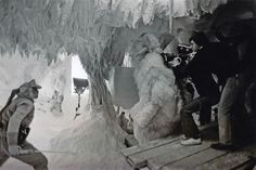 filming in the Wampa cave