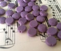 antique nail head beads 9mm light liliac by Frenchsteelbeadshop
