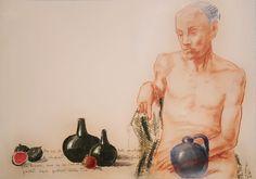sognante (Pittura),  70x50 cm da paolo archilei pastello su cartoncino