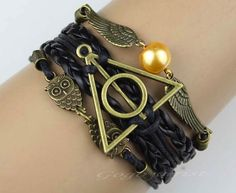 Ultimate Harry Potter Bracelet £3.73 on Etsy at http://www.etsy.com/uk/listing/126400229/harry-potter-bracelet-infinity-bracelet