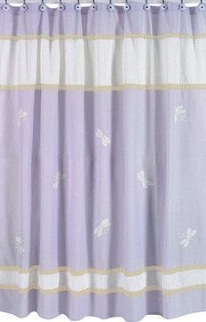 Purple Dragonfly Dreams Shower Curtain - contemporary - Shower Curtains - Tiny Totties