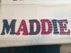 Galvanized Metal Painted Child's Name