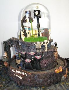 nightmare before christmas cake see more i need this snowglobe - Nightmare Before Christmas Snow Globes