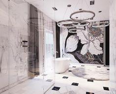 another fantastic interior with #sicis #flowerpower #artistic #mosaic designed by @mika_it: Мои домики. Ванная комната. И пусть весь мир подождёт... #mindenmozaik #everythingismosaic #mozaik #art #kezmuves #italy #ravenna Sicis Mosaic, Interior Staircase, Mid Century Modern Lighting, Mosaic Backsplash, Home Decor Lights, Unique Lamps, Window Coverings, Luxury Interior, Interior Design Inspiration