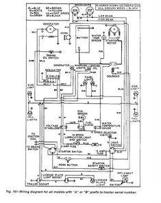7 best wiring diagrams images | ford tractors, diagram, tractors  pinterest