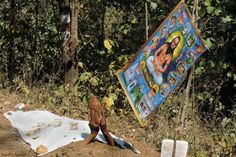 Follower of a Satnami sect in Chhattisgarh.  #satnami #chhattisgarh #culture #india #custom #rituals #travel