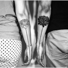 """If you are in love and want a cool, trendy way to show it, couple tattoos are the way to go. Nothing says """"forever"""" quite like a couple tattoo. Enjoy!"""