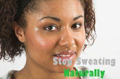 Come smettere di sudare naturalmente
