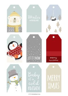 Two new FREE Christmas printables, a set of gift tags and a 2017 polar bear p. - Two new FREE Christmas printables, a set of gift tags and a 2017 polar bear print to go along wi - Merry Christmas Baby, Christmas Labels, Free Christmas Printables, Diy Christmas Cards, Noel Christmas, Christmas Crafts, Printable Crafts, Free Printables, Christmas Wrapping