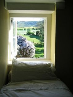 Sleeping nook with a dreamy view.