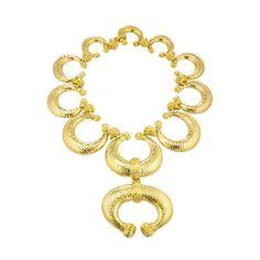 David Webb | Collections | ancient world | Celtic Crescent Necklace, so Regal!