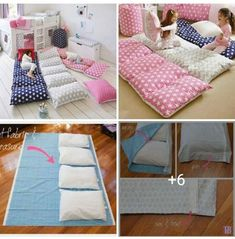 Cocooning – Sewing – # sewing – # sewing - Decoration For Home Portable Bed, Baby Sewing Projects, Baby Pillows, Pillow Beds, Kids And Parenting, Girls Bedroom, Diy For Kids, Diy And Crafts, Kids Room