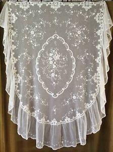 Gorgeous Antique Brussels Princess Lace Baby Pram Cover Wedding Veil Bridal | Vintageblessings