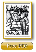 Saint Helen And The True Cross Stained Glass Coloring Page