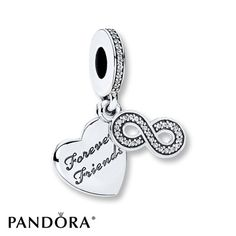 PANDORA Dangle Charm Forever Friends Sterling Silver