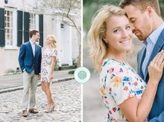 Adam + Chrissy's light, bright and airy downtown Charleston engagement photos!   Aaron and Jillian Photography
