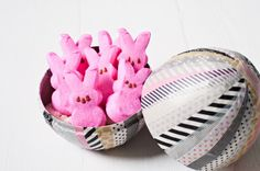 washi tape peep easter egg