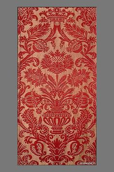 Piece Date: 16th century Culture: Italian Medium: Silk and hemp Dimensions: H. 78 x W. 21 inches (198.1 x 53.3 cm) Classification: Textiles-Woven Credit Line: Rogers Fund, 1938 Accession Number: 38.77