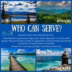 YOU can serve with Thirst Missions! There is still time to plan a Summer, Fall, or Winter Mission Trip! #thirstmissions #missiontrip #summermissiontrip #youthmissiontrip #puertorico #alaska #Belize #appalachia #familymissiontrip Summer Fall, Spring Break, Belize, Small Groups, Puerto Rico, Alaska, Friends, Winter, Travel